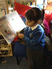 Being teacher and reading to the class