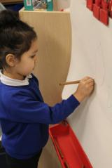 Drawing at the easel