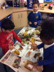 Making fantastic autumn artwork
