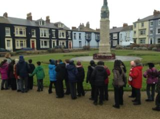 We visited the site of the Hartlepool Bombardments