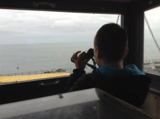 We looked out of the watch tower where the ships that attacked Hartlepool were spotted