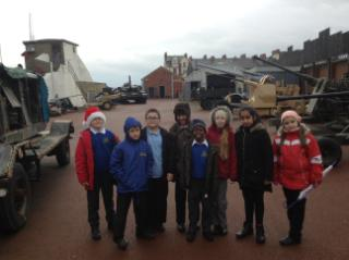 We were able to see military vehicles from WW1 and WW2