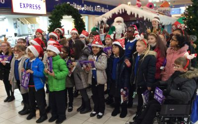 Glee Club sing at the Castlegate shopping centre